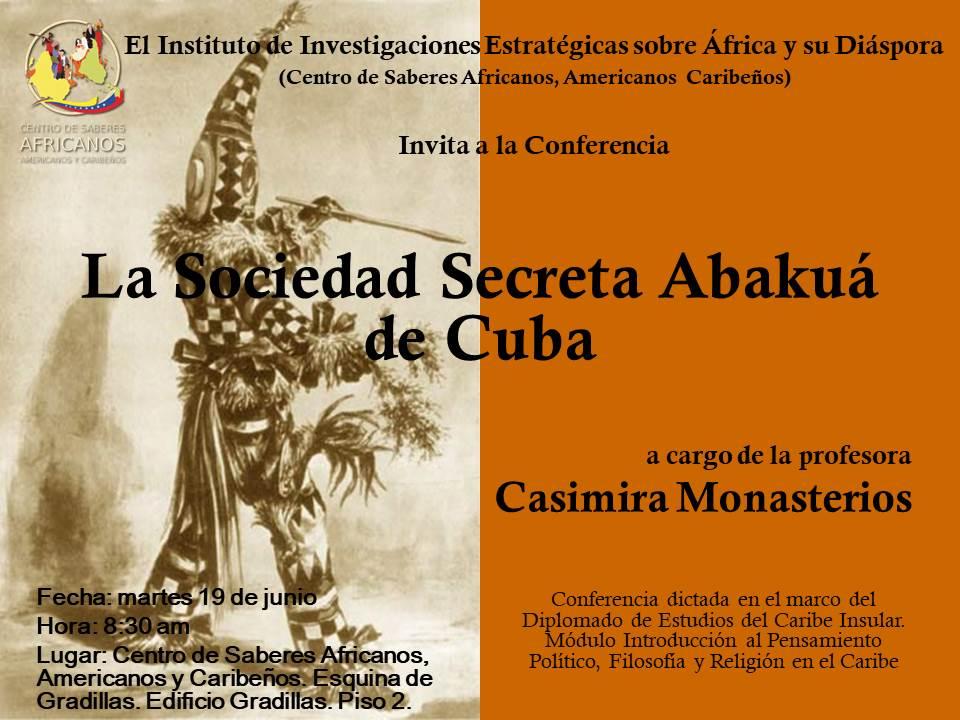 Conferencia Sociedad Secreta Abakuá