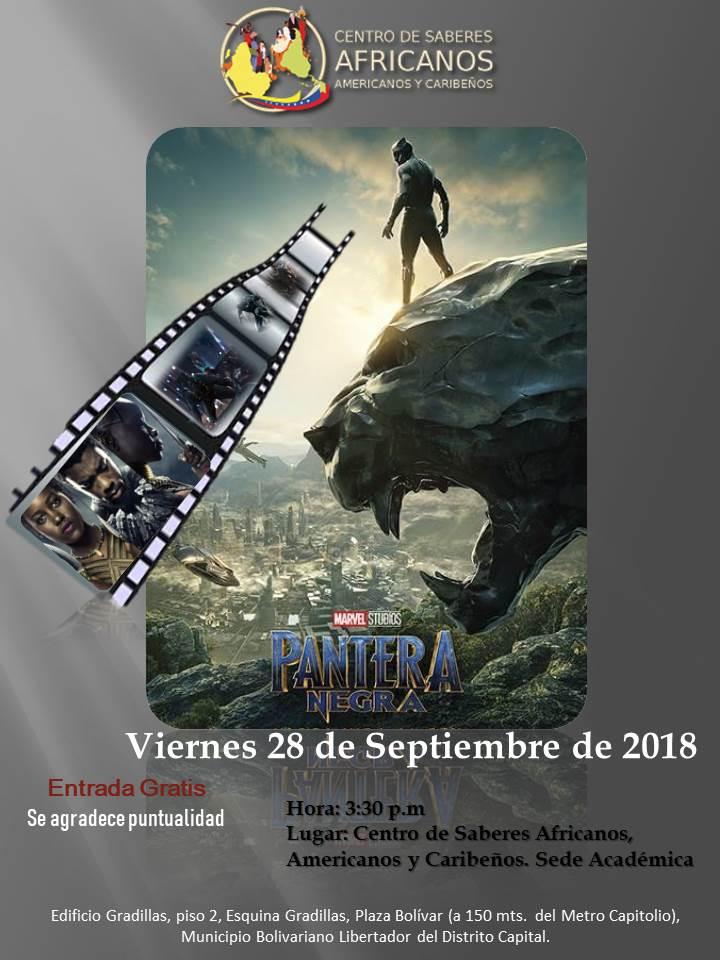 Flyer Pantera Negra