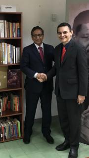Embajador de Qatar con Reinaldo Bolívar