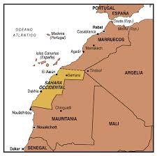 Sahara Occidental mapa