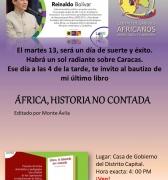 La historia silenciada de las revoluciones de África llega a Filven de la pluma de Reinaldo Bolívar